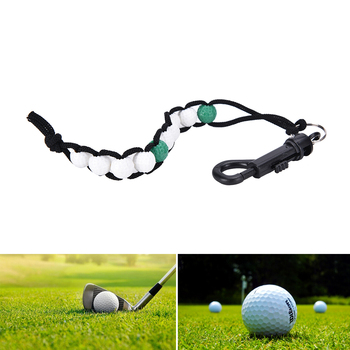 1Pc Golf Ball Beads Score Counter Stroke Putt Scoring Chain with Clip Club Golf Accessories image
