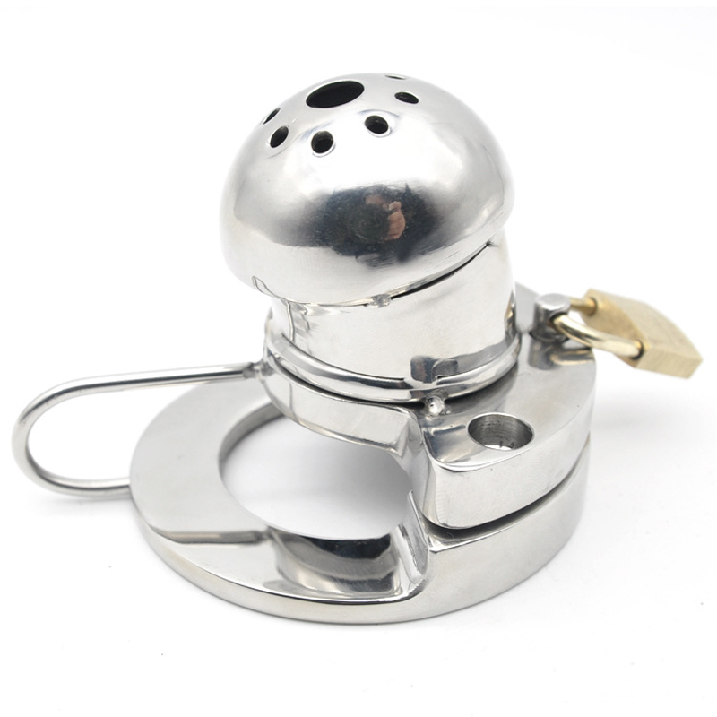 Sex products for men stainless steel chastity device Round head With holes cock cage with 3 size cock ring sex toy for menSex products for men stainless steel chastity device Round head With holes cock cage with 3 size cock ring sex toy for men