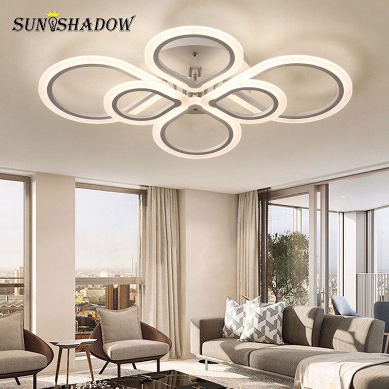 Home Modern Led Chandelier Luminaires Acrylic Surface Mount Lights For Living room Bedroom Dining Lustres
