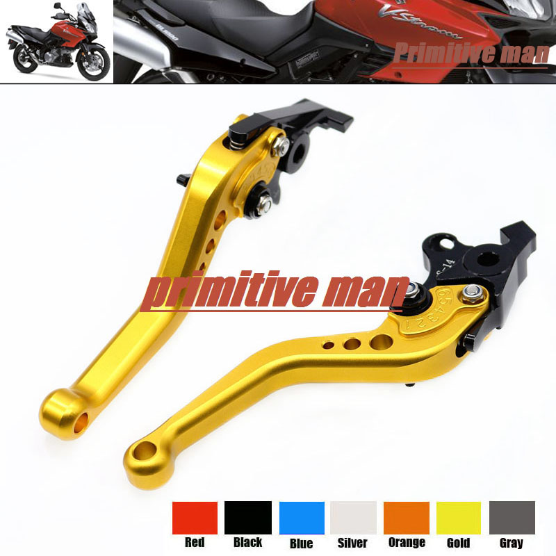 For SUZUKI TL1000R SV1000/S DL1000/V-STROM Motorcycle Accessories Aluminum short Brake Clutch Levers Gold 1000