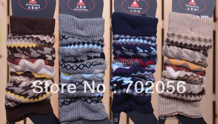 2015 winte 15% vlna ženy teplejší noha nohy boty kotník teplejší rukávy pokrývají 20 párů / lot # 3291