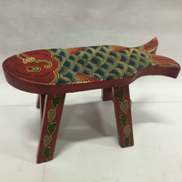 15%Painted manual stool children small fish stool wooden child stool decoration furnishings Chinese baby stool