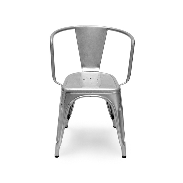 maraischair spcial design industriel forg fer en mtal galvanis seule chaise ikea lgante salle. Black Bedroom Furniture Sets. Home Design Ideas