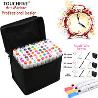 Touchfive 80 Colors Pen Marker Set Marcadores Touchfive Sketch Markers Brush Pen For Draw Manga Animation