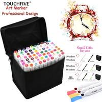 Touchfive 80 Colors Pen Marker Set Marcadores Touchfive Sketch Markers Brush Pen For Draw Manga Animation