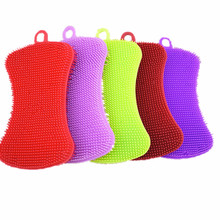 Magic Silicone Cleaning Brushes Dish Bowl Scouring Pad Pot Pan Easy to clean Wash Sponge Brushes Cleaning Brushes Kitchen