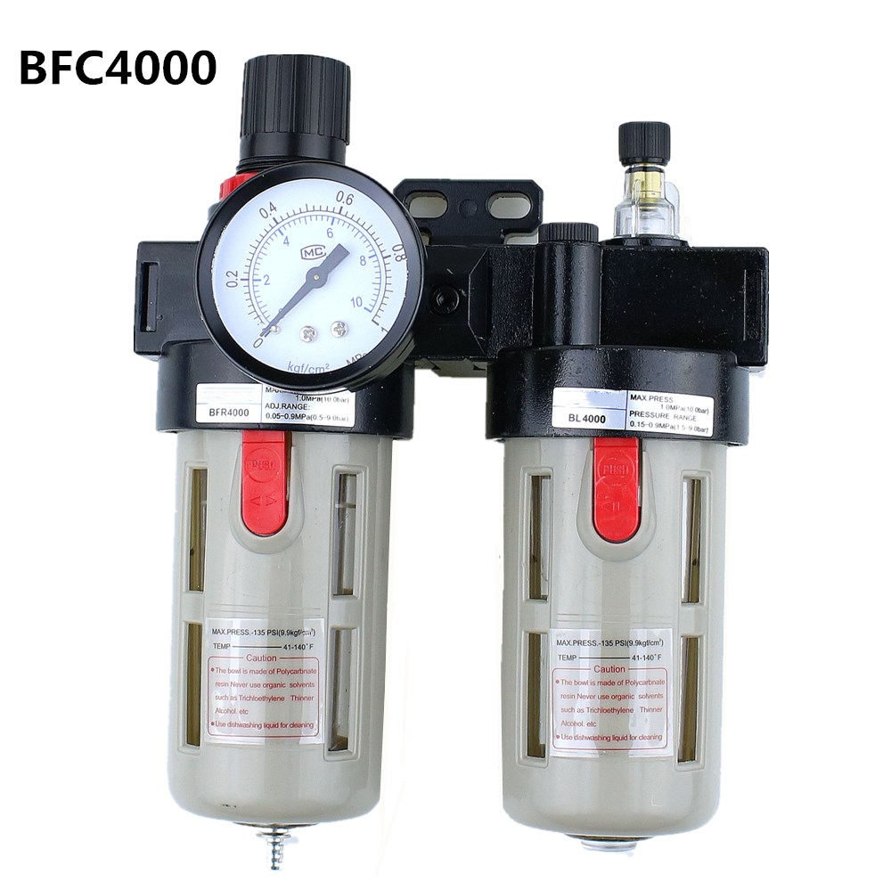 """BFC4000 Free Shipping 1/2"""" Air Filter Regulator Combination Lubricator ,FRL Two Union Treatment ,BFR4000 + BL4000-in Pneumatic Parts from Home Improvement"""