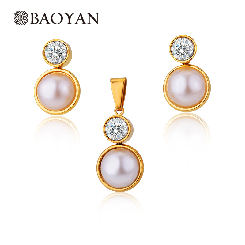 Gold Plated Jewelry Sets For Women Simuls