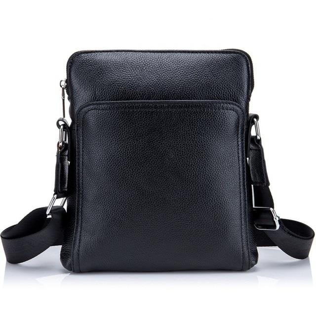 fe6332637791 Мужские туфли из натуральной кожи сумка Повседневная Деловая мужская плечо  сумка через плечо высокого качества из