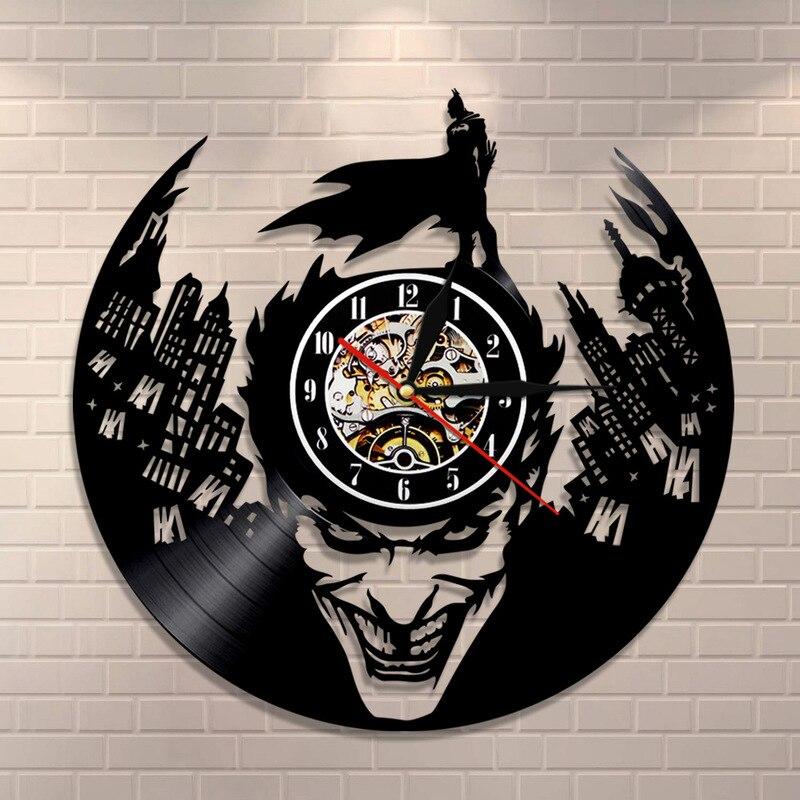 8e01deb3b49 2018 Horloge Murale Relogios De Parede Wandklok Free Shipping Music Wall  Clock Vinyl Retro Nostalgia Batman