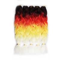 Hair Way 24inch Crochet Braids Ombre Jumbo Braid Colored Hair Extensions Synthetic Heat Resistant Bulk Hair