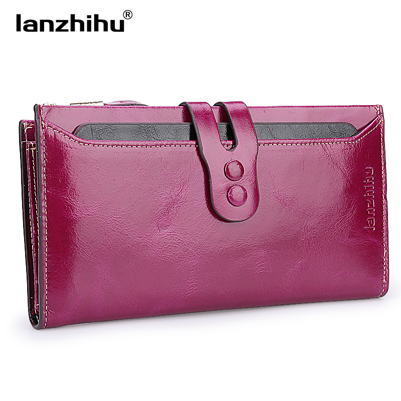 Women Genuine Leather Wallet High Quality Long Design Leather Purse Ladies Cowhide Card Case Female Phone Holder Women's Clutch 2016 new high quality ladies purse fashion women bifold leather clutch card holder purse long handbag female long section wallet
