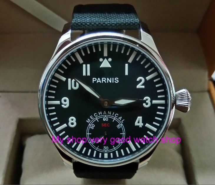 Blue luminous 44mm parnis Black dial 6498 / ST3621 Mechanical Hand Wind movement mens watches Mechanical watches 0159ABlue luminous 44mm parnis Black dial 6498 / ST3621 Mechanical Hand Wind movement mens watches Mechanical watches 0159A