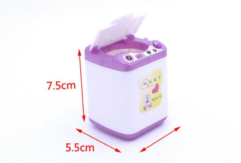 Plata De Casa De Muñecas Muebles De Cocina De Ropa Miniatura de máquina de lavado