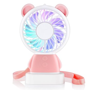 usb gadget cat ear rechargeable handheld fan with led light 2 speeds for indoor outdoor mini fan Mini Handheld Fan, Personal Portable Rechargeable windmill fan toy with Color LED light 2 Adjustable Speeds for House Travel
