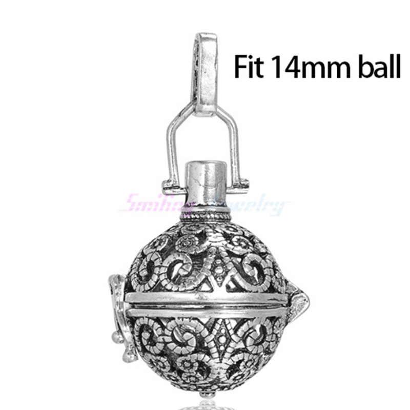 1pc Hollow Cage Filigree Ball Diffuser สร้อยคอ Locket จี้สำหรับ DIY น้ำหอม Essential Oil สร้อยคอเครื่องประดับคริสต์มาสของขวัญ