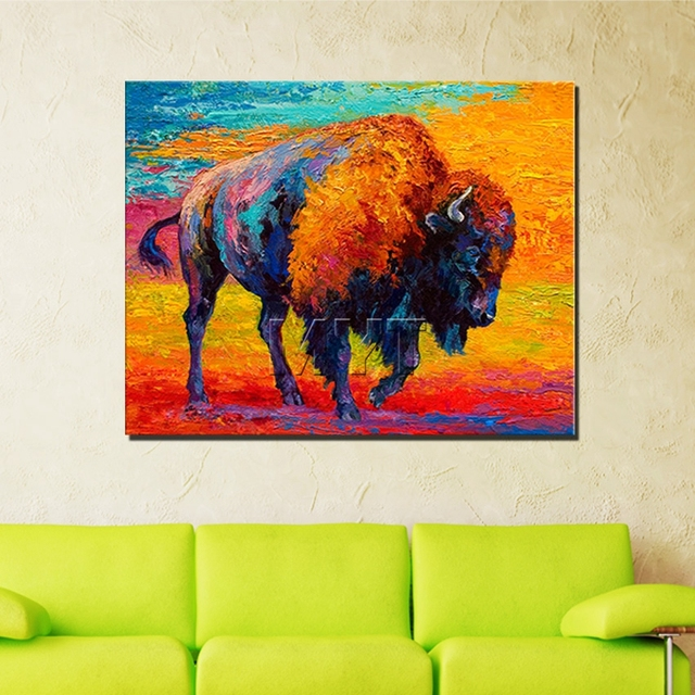 The Field Stronger Running Yak Wall Art Best Canvas Oil Paintings With Framed Decoration Fashion Wall & The Field Stronger Running Yak Wall Art Best Canvas Oil Paintings ...