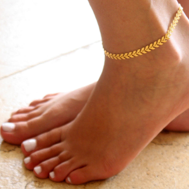 plated sandals anklet barefoot summer under foot real for men women chain link gold best cuban bracelet jewelry product platinum simple