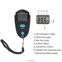 EM2271/EM2271A Мини ЖК цифровой автомобильный толщиномер автомобильный тестер краски дисплей измеритель толщины покрытия инструмент для тестиро...