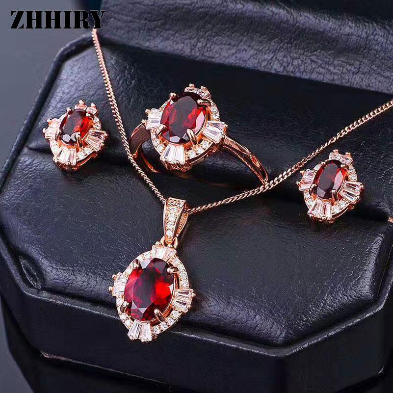 2545a58be4b7 Granate natural gema anillo genuino sólido 925 plata esterlina real piedra  anillos Mujer joyería platino plateado zhhiryUSD 30.00 piece