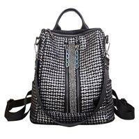 High Quality Youth Fashion Women Backpack PU Leather Female Backpacks School Bag for Teenager girls Mochila Shoulder Bag Bagpack