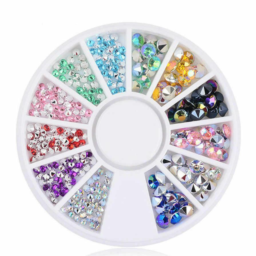 1 viên Mix Màu Bạc Điểm Khoan Giả Đầu Móng Tay Trong Suốt Ngón Tay Móng Tay Nghệ Thuật Hiển Thị Thực Hành Acrylic Gel UV Ba Lan dụng cụ Manice #011