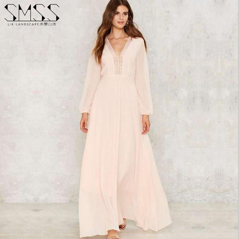 Online Get Cheap Pink Maxi Dress Chiffon with Sleeves -Aliexpress ...