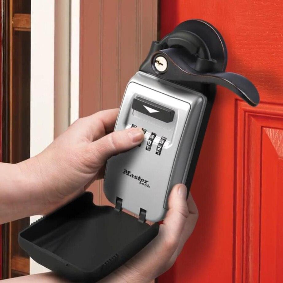 Master Lock 5420D Key Safe Box Keys Storage Padlock Combination Universal Lock Box 4-digit Password Security Organizer Boxes