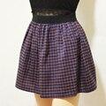 Harajuku faldas para mujer rock 2016 lindo coreano plaid falda nueva estilo de otoño de cintura alta falda salvaje caliente kawaii falda plisada mujeres