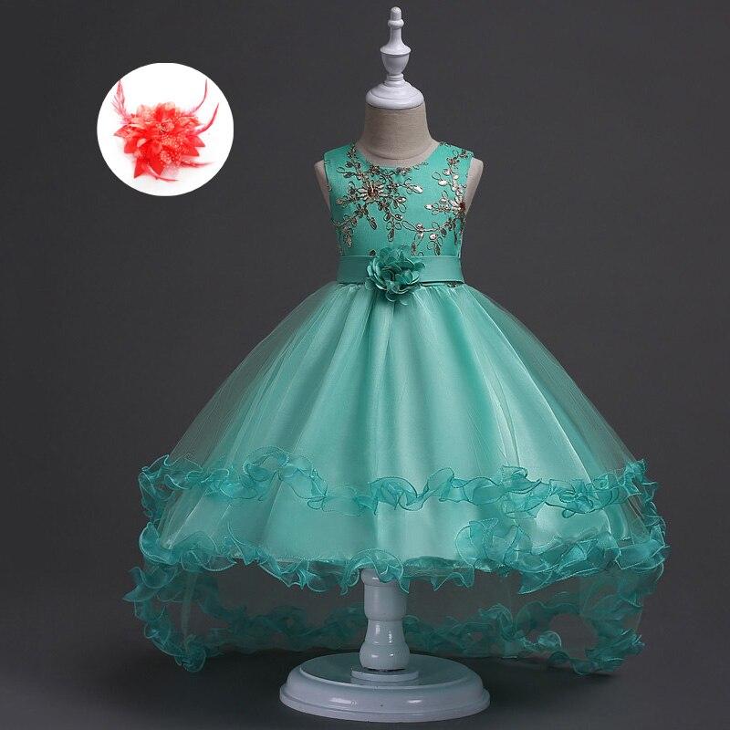 Fashion European Children Clothes Beauty Princess Wedding Formal Dresses Real Image 2017 for Kids High Low Flower Girl Dress beauty image баночка с воском с маслом оливы 800гр