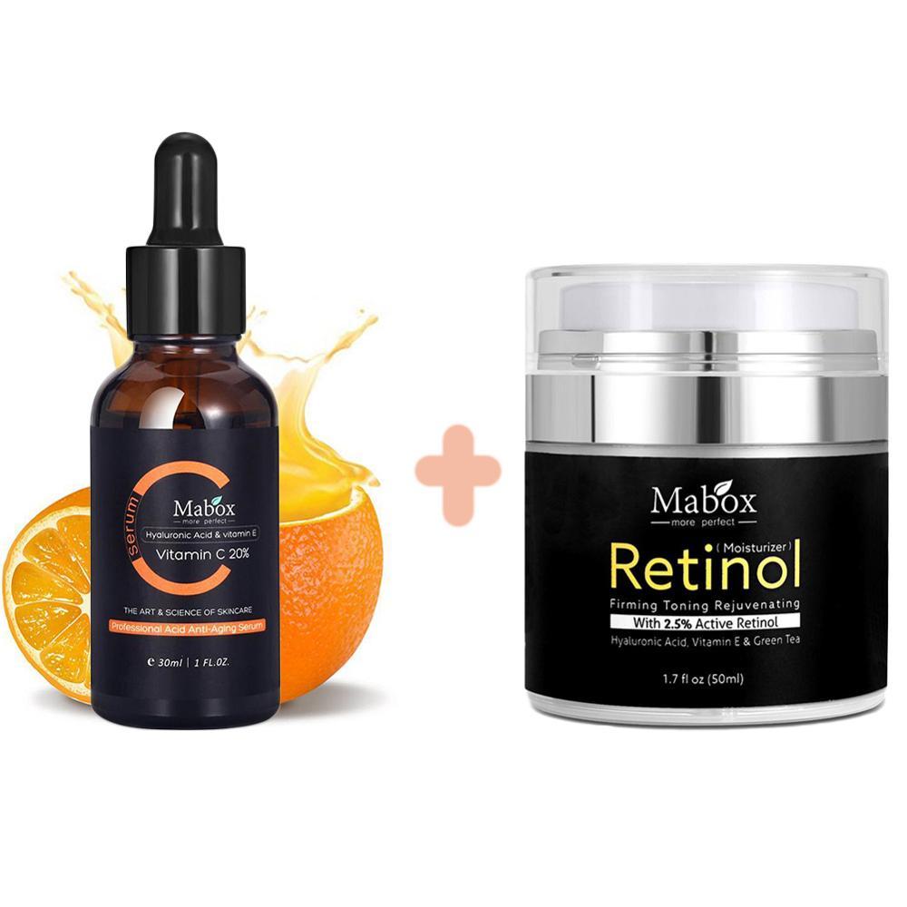 MABOX 2.5% Retinol Whitening Face Cream + Vitamin C Whitening Serum Anti aging Moisturizer Face Cream 1