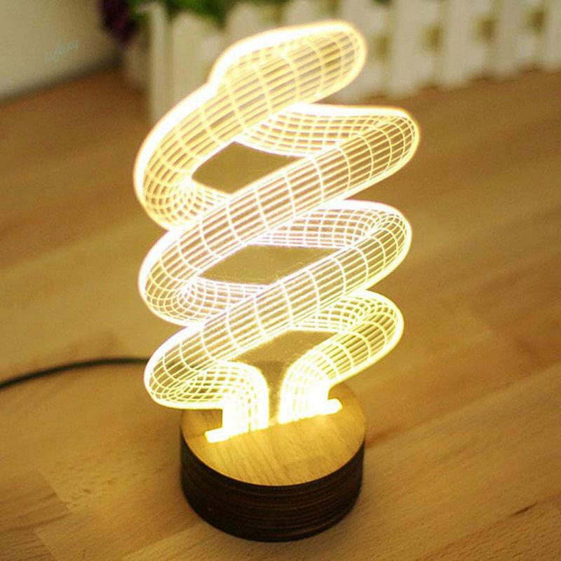 Hot Sale 3D Wood Base Skull Spiral Bulb Lamp LED Night Light Table Illusion  Decorative Lamp In Party Favors From Home U0026 Garden On Aliexpress.com |  Alibaba ...