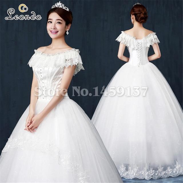 leondo Princess cinderella wedding gown vestido casamento curto ...