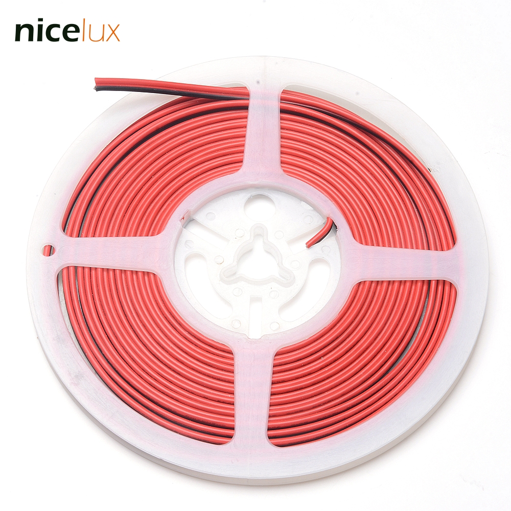 20ft 6m 20AWG 2 Pin Extension Cable PVC Insulated Stranded Wire Electric Cable Copper Wire for 3528 5050 LED Strip Tape Light стоимость