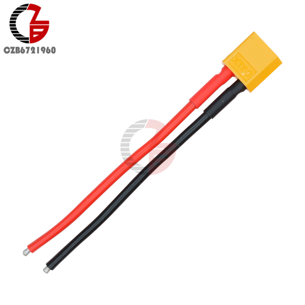 XT60 Connector Male W/Housing 10CM Silicon Wire 14AWG XT-60 PLUG