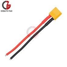 Conector xt60 macho com carcaça 10 cm fio de silício 14awg XT-60 plug