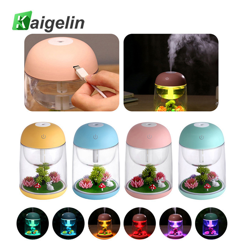 Novelty 7 Colors Night Lamp Humidifier USB Touch Sensor LED Night Light Luminaire LED Bedside Children Lamp Valentines Day Gift цены