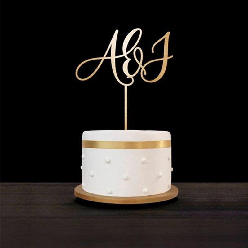 Angepasst Hochzeit Kuchen Topper Initialen Personalisierte Kuchen