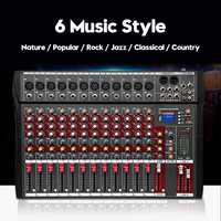 6 Channel Professional Powered Mixer power mixing Amplifier Karaoke Audio Sound Console Mixing with USB