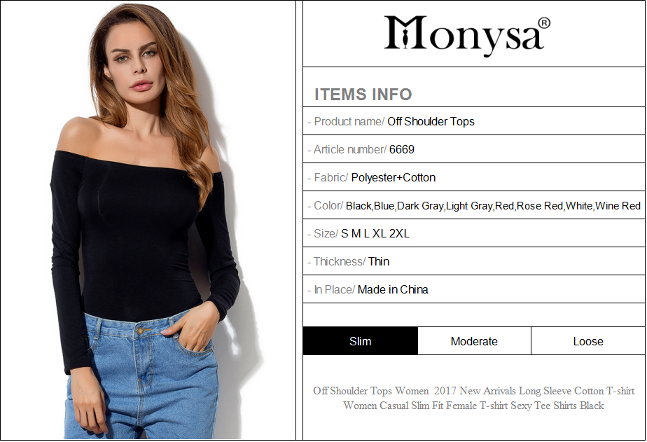 HTB1.NYgRXXXXXafXVXXq6xXFXXX4 - Off Shoulder Tops Women New Arrivals Long Sleeve Cotton T shirt Women Casual Slim Fit Female T-shirt Sexy Tee Shirts Black