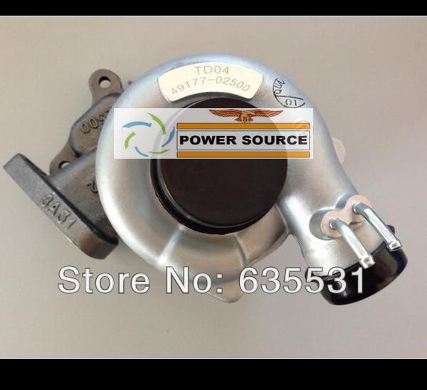 TD04 49177-02511 49177 02511 4917702511 MD168054 Oil cooed Turbo Turbocharger For MITSUBISHI PAJERO SHOGUN 4D56 4D56Q 2.5L new turbo turbocharger chra cartridge 49177 02511 for 4d56td