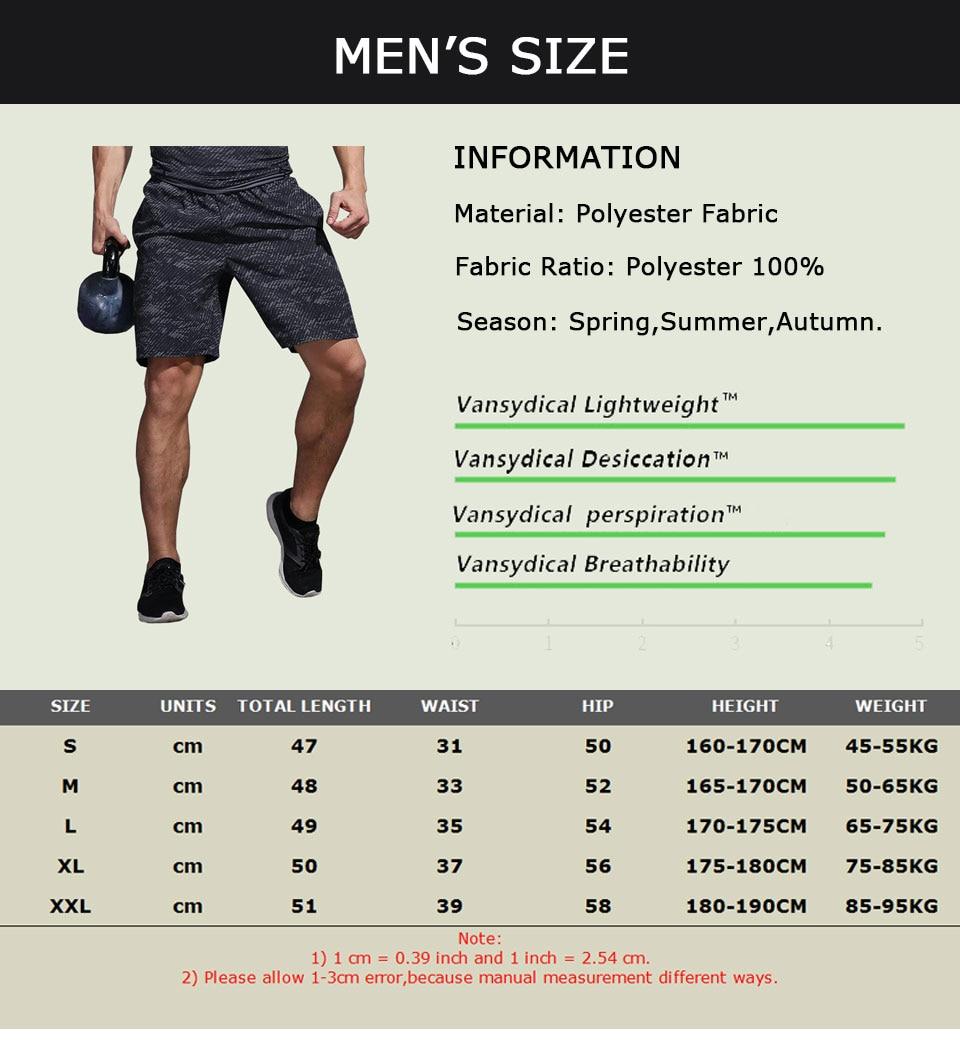 VANSYDICAL Running Shorts Men Sport Mens Marathon Gym Shorts Quick Dry Training Soccer Tennis Workout GYM Shorts Tenis Masculino 10