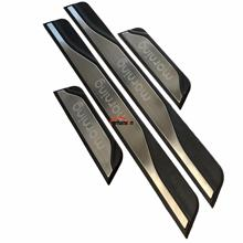 For Car Styling Kia Morning 2017 2018 Accessories Stainless Steel Door Sill Trim Scuff Plates Protection Protectors Car Sticker