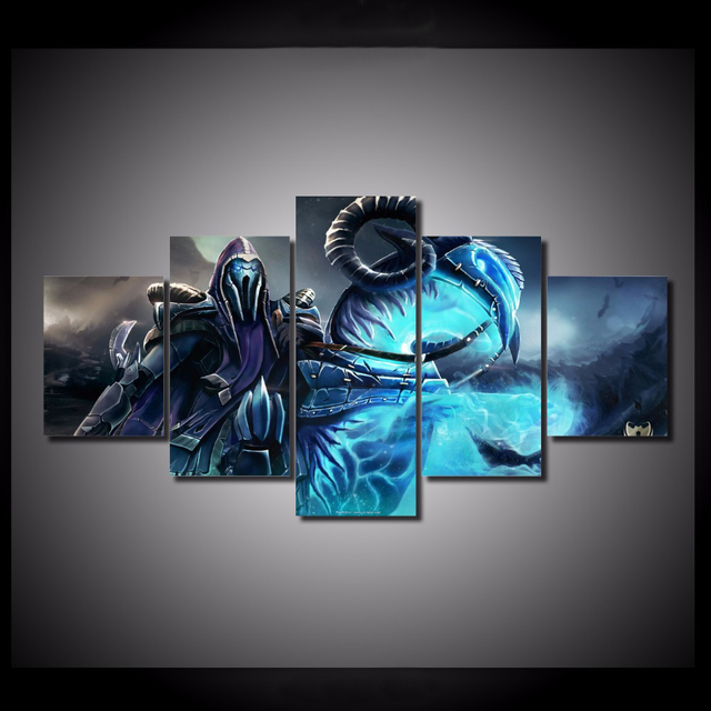 HD Printed canvas 5 Pieces/set Dota 2 wall art Canvas Picture Art HD ...