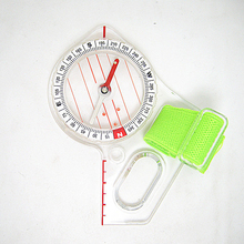 1 Piece Outdoor Professional Map Scale Compass Thumb Compass Elite Competition Orienteering EDC Compass Portable цена