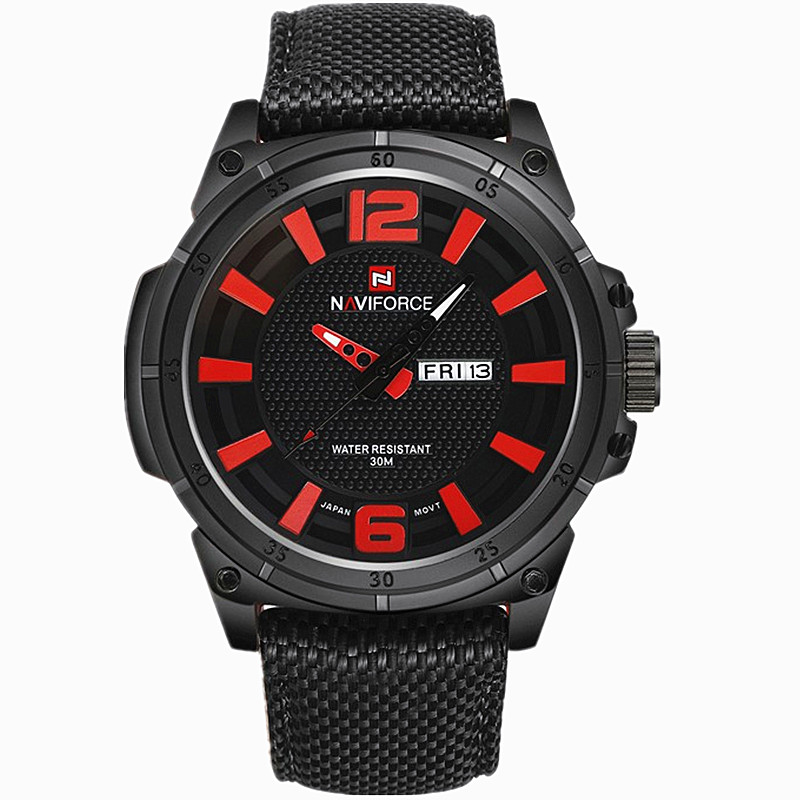 New NAVIFORCE Men's Luxury Watch Military Watch Men Quartz wristWatch Sports Date Clock Brand Men Casual Nylon Watch 9066