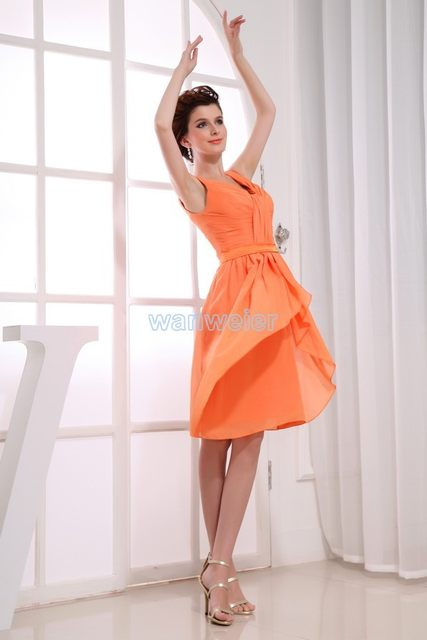 dc6bc8463731c free shipping 2016 new beyonce new hot brides maid dress gown custom  size/color short orange strap sexy Bridesmaid Dresses