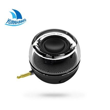 Tragbare HIFI 3D Surround 3,5mm Aux Audio Jack Mini Drahtlose Runde Form Leistungsstarke Kristall Lautsprecher Altavoz für Smartphone Tablet