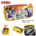 Large capacity double tail pen animation Gray Lucy Naz multifunctional fairy Wallet Zipper Bag