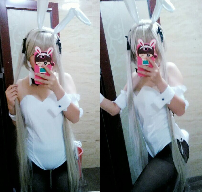 Yosuga no Sora Kasugano Sora Cosplay Sexy Bunny Costume Lolita Maid Dress Halloween Costumes for Women Adult Costumes Free Size